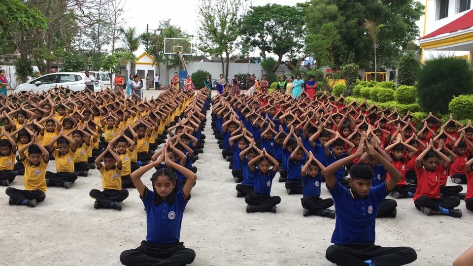 bright scholars' school yoga day